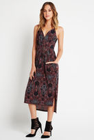 BCBGeneration Paisley Print Faux Wrap Midi Dress - Apple Multi
