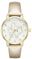 Kate Spade Women's Metro Texas State Of Mind Leather Strap Watch, 34Mm
