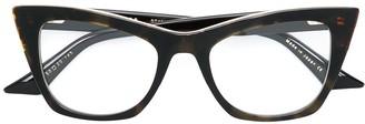 Dita Eyewear Showgoer square cat eye glasses