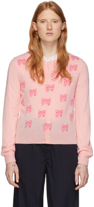 COMME DES GARÇONS GIRL Pink Disney Edition All Over Ribbons Cardigan