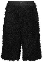Y-3 + Adidas Originals Cotton-Trimmed Faux Shearling Shorts