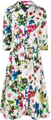 Samantha Sung Floral Shirt Dress
