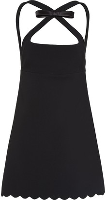Miu Miu Halterneck Mini Bow Dress