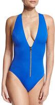 OYE Swimwear Lana Zip-Front One-Piece Swimsuit