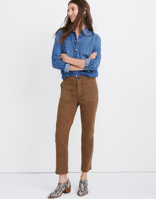 Madewell Stovepipe Fatigue Pants: TENCEL Lyocell Edition