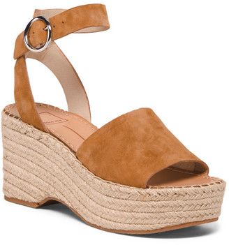 Ankle Strap Suede Espadrille Sandals