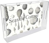 The Well Appointed House Grey Shells Personalized Lucite Tray-Available in Two Different Sizes