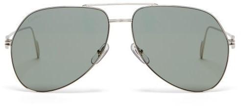 Cartier Eyewear - Aviator Metal Sunglasses - Mens - Silver