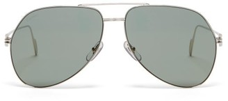 Cartier Premiere De Aviator Metal Sunglasses - Silver