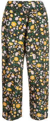 Apiece Apart Cruz floral-print trousers