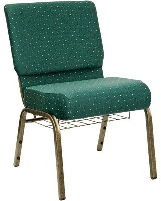 Latitude Run Gallentine Guest Chair Metal Finish: Gold Vein, Seat Color: Hunter Green Dot Patterned