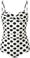 Dolce & Gabbana polka dot swimsuit - women - Polyamide/Spandex/Elastane - 1