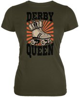 Tee's Plus Roller Derby Derby Queen Army Juniors Soft T-Shirt