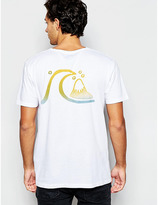 Quiksilver T-shirt With Wave Back Print - White