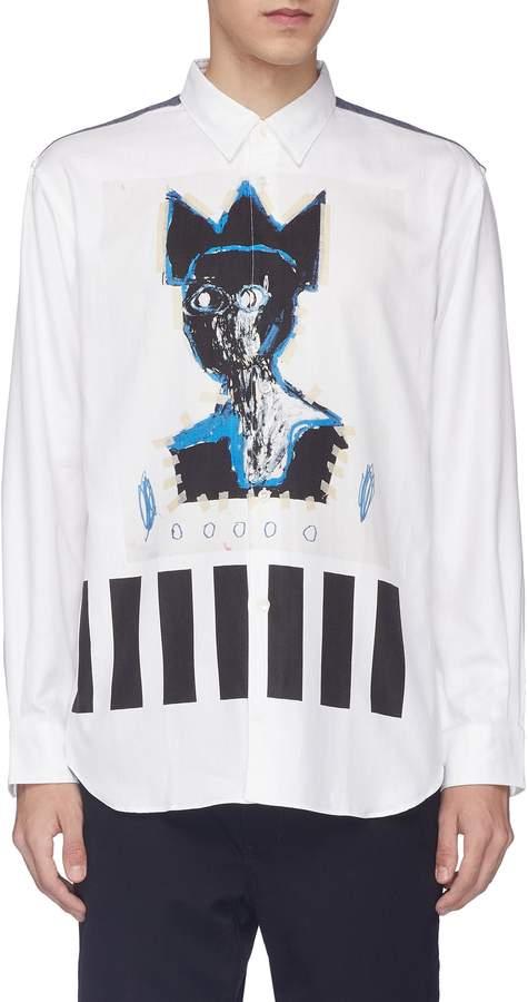 Comme des Garcons x Jean-Michel Basquiat flannel yoke graphic print shirt