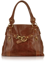 Chiarugi Handmade Brown Genuine Leather Tote Bag