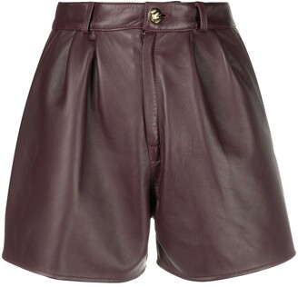Etro Pleated Leather Shorts