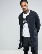 Nike Air Longline Bomber Jacket In Black 830631-010