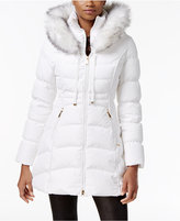 Laundry by Shelli Segal Faux-Fur-Trim Down Puffer Coat