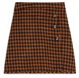 Sandro Houndstooth Skirt