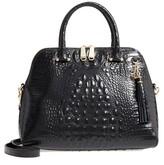 Brahmin Melbourne - Sydney Croc Embossed Leather Satchel - Black