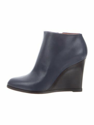 Celine Leather Boots Blue