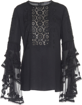 Andrew Gn Cascade Sleeve Blouse