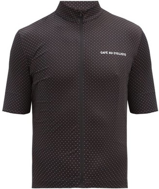 Café Du Cycliste Fleurette Mesh-jersey Cycling Top - Black