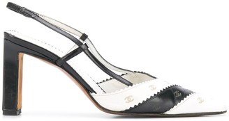 Chanel Pre Owned CC slingback pumps