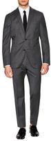 Boglioli Herringbone Stripe Suit