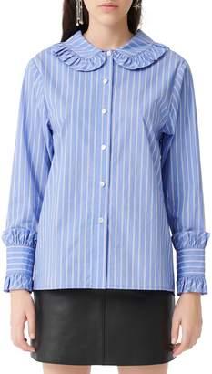Maje Calia Striped Cotton Shirt