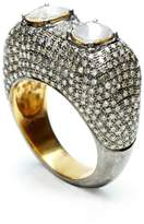 NUSH - Double Rough Cut Diamond Ring