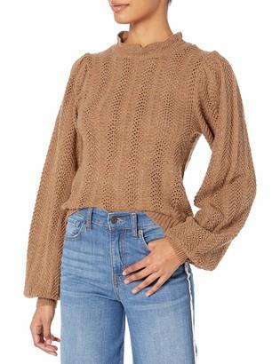 ASTR the Label Women's Brynn Chevron Knit Casual Sweater