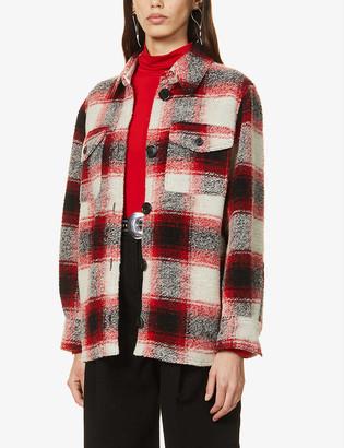 Etoile Isabel Marant Gastoni check wool-blend jacket
