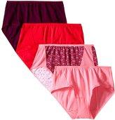 Fruit of the Loom Women's 4 Pack Flexible Fit Mid-Rise Brief Panties