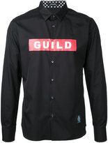 GUILD PRIME logo print shirt - men - Cotton - 1