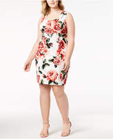 Love Squared Trendy Plus Size Printed Sweetheart Dress