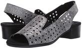 Munro American Mickee (Pewter Metallic Leather) Women's Sandals