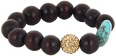 The Cool People Dee Berkley for Barbados Beauty Bracelet (Brown/Turquoise) - Jewelry