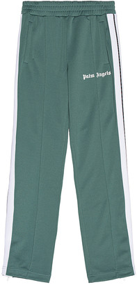 Palm Angels Classic Track Pants in Pine Green & White | FWRD