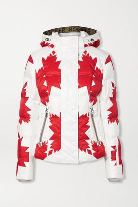Bogner Dana-d Printed Quilted Ripstop Down Ski Jacket - Red