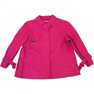Prada Red Cotton Trench Coat for Women