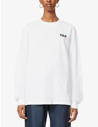 Sporty & Rich Logo-print cotton-jersey sweatshirt