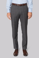 Hardy Amies Tailored Fit Grey Prince of Wales Check Trousers