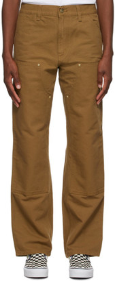 Carhartt Work In Progress Brown Double Knee Jeans
