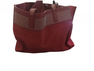 Saint Laurent Red Suede Handbags