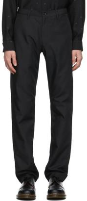 Comme des Garçons Homme Deux Black Gabardine Trousers