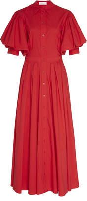 Michael Kors Cotton-Poplin Maxi Dress