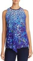 Elie Tahari Hilda Animal Print Sleeveless Blouse - 100% Exclusive