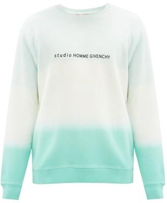 Givenchy Logo-print Tie-dye Cotton Sweatshirt - Green